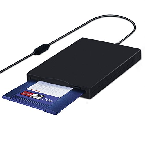 MthsTec USB 2.0 External Floppy Disk Drive Portable Reader for Laptop PC MAC Windows 10 Windows 8 7 VISTA/XP by MthsTec (Image #2)