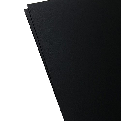 Plastics 2000 - KYDEX Sheet - 0.060'' Thick, Black, 12'' x 12'', 2 PACK by Plastics 2000