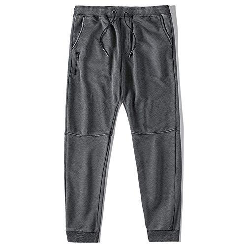 Pantaloni Sport Feet Slim Uomo Lavati Da Panpany Casual Belt Moda Small Grigio Pant Stretch Fit Elastic Con dq8R11w