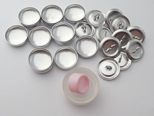 100 ButtonsUCover Size 24 FLAT Back Cover Buttons and Assembly Tool Kit