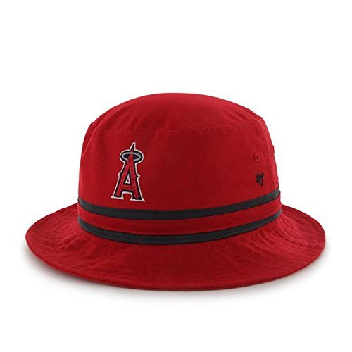 s Angeles Red Striped Bucket Hat - MLB Gilligan Fishing Cap ()