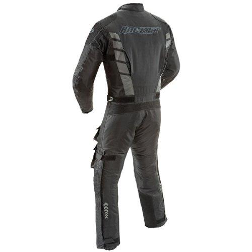 Joe Rocket Survivor Mens Black Textile Riding Suit - Large Short
