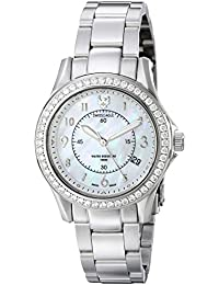 Womens SE-6027-22 Talon Analog Display Swiss Quartz Silver Watch