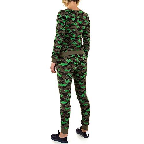 iTaL-dESiGn - Pantalón de peto - para mujer verde oscuro