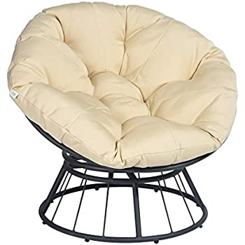 Amazon Com Outdoor Papasan Lounge Chair With Cushions
