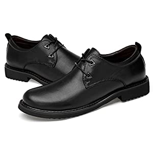 Men' s New Leather Casual Shoes British Business Oxford Shoes First Layer Cow Leather