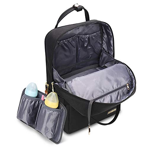 Vogshow Diaper Bag Backpack, Double Layer Waterproof Baby Bags for Mom and Dad(Black)