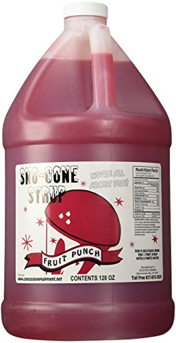 Concession Express Snow Cone Syrup 1 Gallon (Fruit Punch)