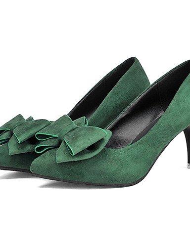 eu39 Tacones black cn39 black ZQ us8 dark green Tacones Zapatos Tac¨®n cn39 Verde Stiletto de us8 cn39 uk6 Bermell¨®n Vell¨®n eu39 uk6 uk6 eu39 Oscuro Negro us8 Casual mujer xRwOXx