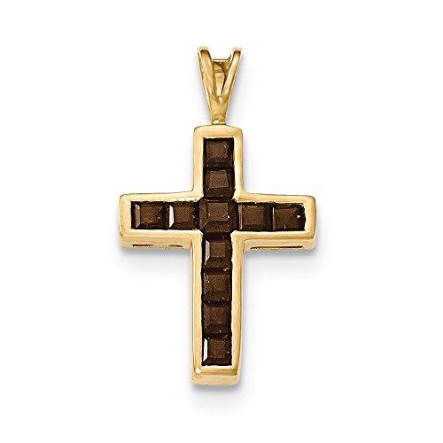 ey Quartz Cross Pendant ()