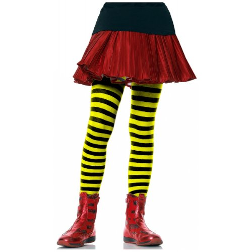 Children's Striped Tights Hosiery - Large