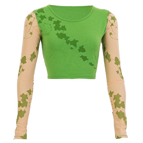 Adult Poison Ivy Crop Top - Costume Accessory - Batman Nemesis - S/M 2-10