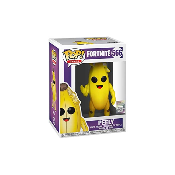 41Xa0z5ETWL From fortnite, peely, as a stylized pop vinyl from funko Figure stands 9cm and comes in a window display box Check out the other fortnite figures from funko collect them all