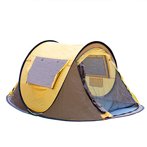 Campingtens Seconds Outdoor Camping Tent for 3 Persons,Automatic Pop Up Tent for Outdoor, Hiking, Traveling, Backpacking