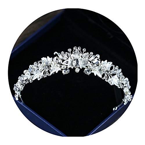 Rhinestone Bridal Crown Baroque Full Crystal Diadem for Bride Headbands Wedding Hair Jewelry,style3 silver ()