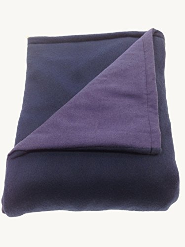 Sensory Goods - THE ONLY APPROVED MANUFACTURER AND SELLER - Small Weighted Blanket - Navy - Flannel/Fleece (30'' x 48'') (6 lb for 50 lb individual)
