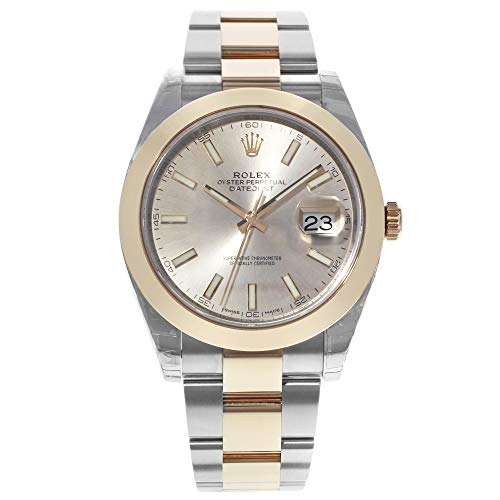 Rolex Datejust 41 Sundust Dial Steel and 18K Rose Gold Mens Watch - Gold Watches Rolex Rose