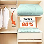 SUOCO Vacuum Storage Bags 8 Pack (Jumbo), Space Saver Compression Bags with Travel Hand Pump