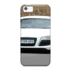 Iphone 5c Case Cover - Slim Fit Tpu Protector Shock Absorbent Case (audi R8)