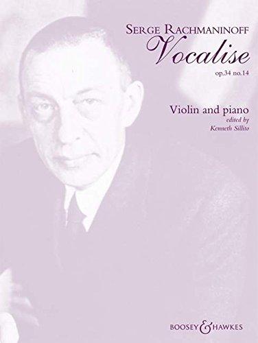 Vocalise: op. 34/14. Violine und Klavier.
