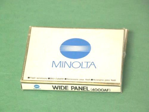 minolta wide panel 4000AF for 4000af flash