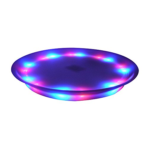 """Fortune Products ST-15R-12 Super Lighted LED Serving Tray, 14"""" Diameter, Multi-Color (Pack of 12)"""