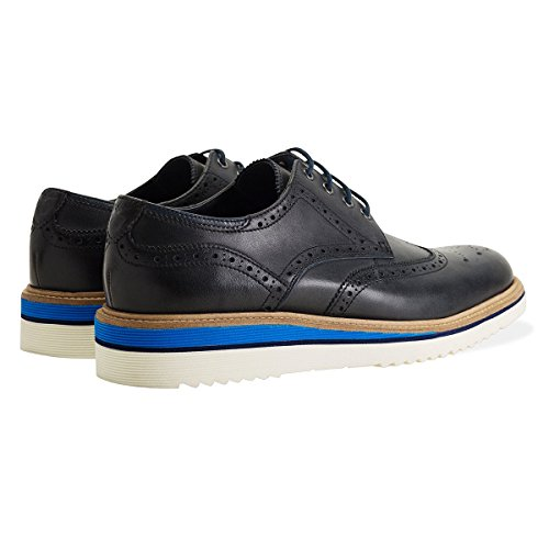 Goodwin Smith Newton Wedge Derby Zapatillas Hombre Brogue Azul Marino