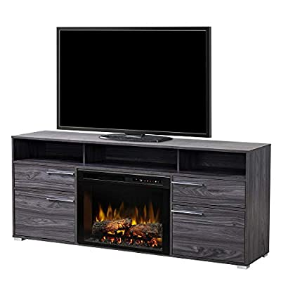 Dimplex Sander Media Console Electric Fireplace with LOGS Carbon Finish