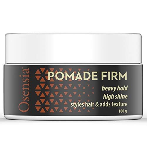 (Pomade Firm Strong Hold Hair Wax - High Shine, High Hold Pomade for Men - Styling Gel, No Flakes or Residue, Washes Out Easy - Alcohol and Paraben Free Water Based Pomade Gel by Osensia, 3.4 Ounces)