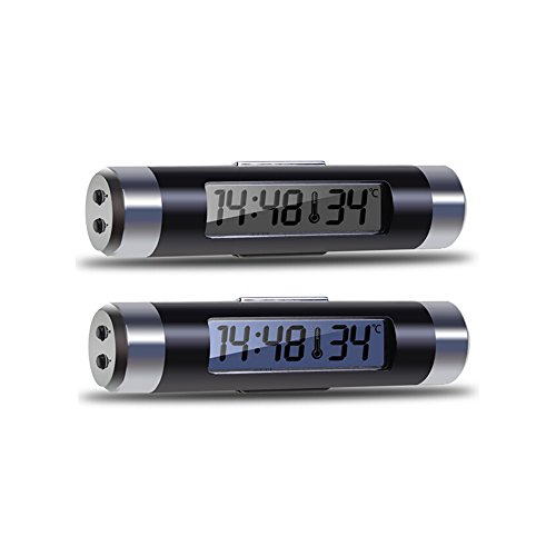 Car Auto LCD Backlight Digital Automotive Thermometer New Clock