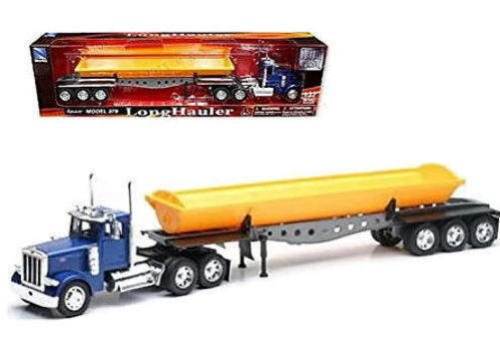(NewRay SS-10553 1: 32 Peterbilt Model 379 Dump Truck, Yellow)