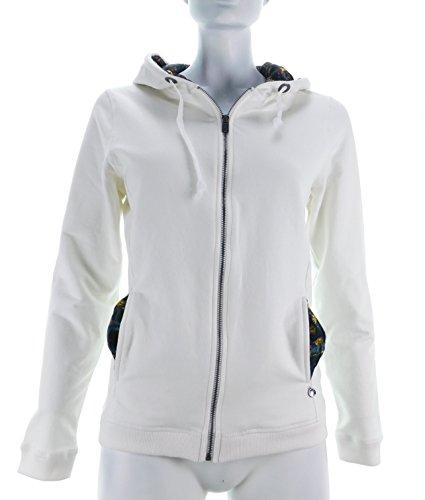 Donna BAY Vanilla Felpa Zip WHALE'S Bianco Style Fiori qRw4gq