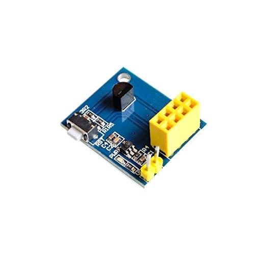 Price comparison product image AEEDAIRY 10PCS / LOT ESP8266 ESP-01 ESP-01S DS18B20 Temperature Humidity Sensor Module esp8266 Wifi NodeMCU Smart Home IOT DIY Kit
