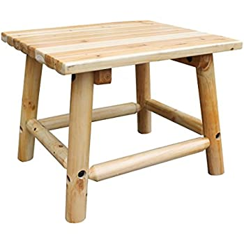 Amazon Com Char Log 24 Inch By 20 Inch Wood End Table