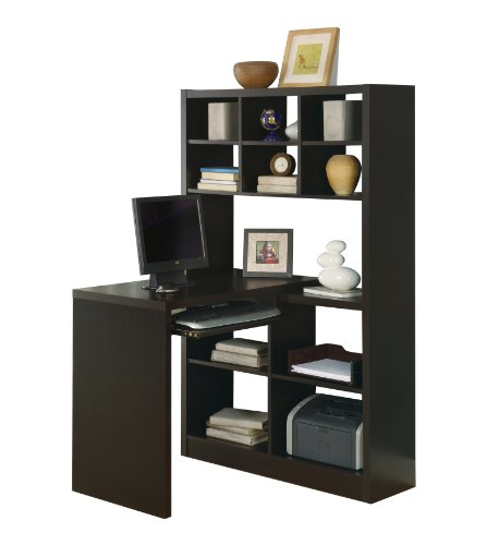 Monarch Specialties Cappuccino Hollow-core Left Or Right Side Corner Desk image