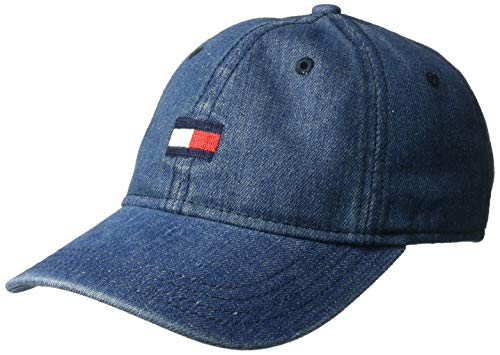 (Tommy Hilfiger Men's Ardin Dad Hat, Denim, One Size )