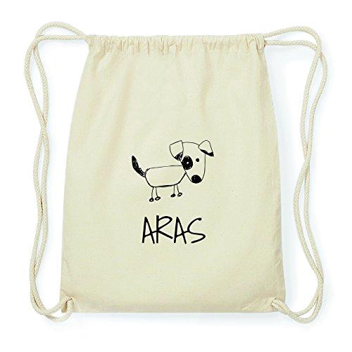 JOllipets ARAS Hipster Turnbeutel Tasche Rucksack aus Baumwolle Design: Hund