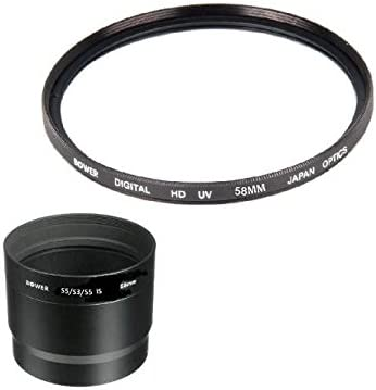 Bower UV Filter WithTube adapter for Canon PowerShot S5 IS S3 IS S2 IS