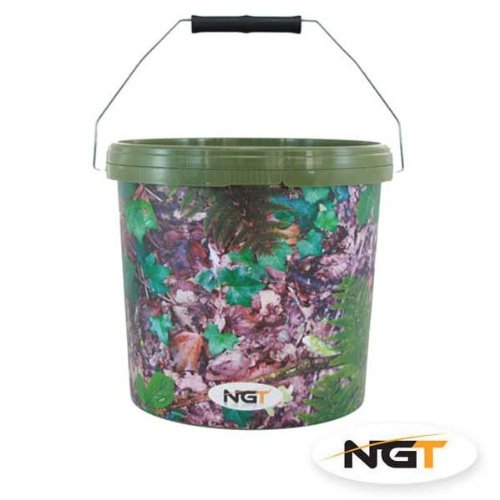 10 Litre Camo Bucket With Metal Handle And Lid!! ngt