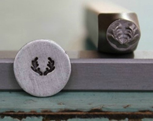 5mm Deer or Elk Antler Metal Punch Design Jewelry Stamp by The Supply Guy