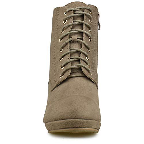 Shoe Closed Elastic Taupe Side Women's Standard L Casual Ankle Bootie Panel �c Boot Premier Low Toe Heel Walking 0wxAFU