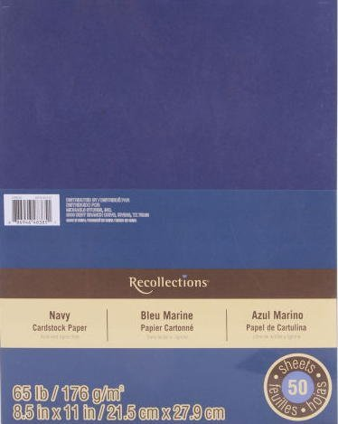 Recollections Cardstock Paper Value Pack, 8.5 X 11 Navy (Value 2-pack)