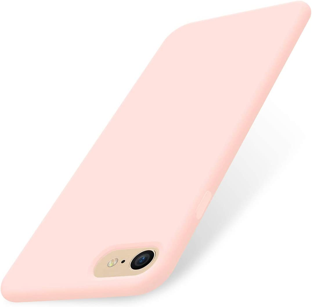 AOWIN iPhone SE 2020 Case Silicone iPhone 8 Case Cover for iPhone 7 Soft Microfiber Lining Hard Shell Compatible with iPhone 7/8/SE 2020- Pink