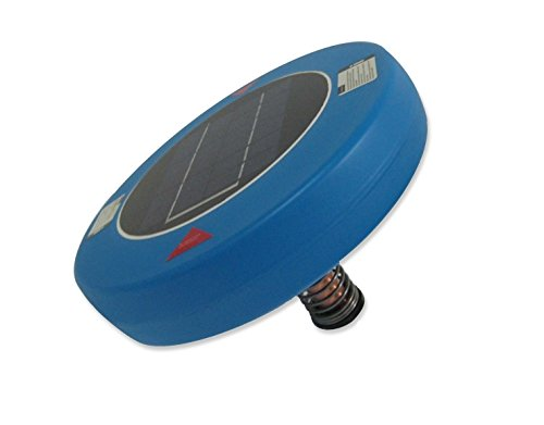 Human Creations Solar Pool Purifier (Blue) Cleaner Ionizer, Substitute for Swimming Pool Algaecide