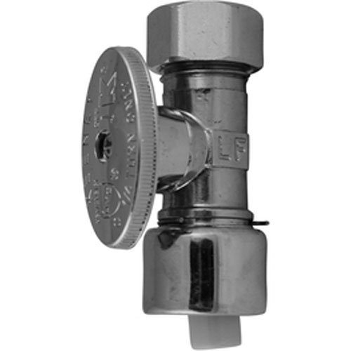 Quarter Turn STR Valve5/8 OD Quick Lock for 1/2 Nominal copper, CPVC and PEX inlet x 1/2 FIP outlet by Plumb - Plumb Outlet Pak