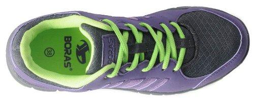 Boras - Zapatos de cordones de material sintético para mujer negro negro dark purple Talla:38 - dark purple