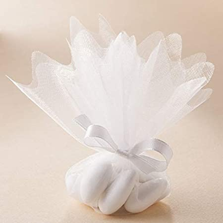 Les gourmandises de Heidi Ballotins /à drag/ées Blanc Lot de 10 tulles Cristal Couleurs au Choix Mariage bapt/ême Communion Anniversaire