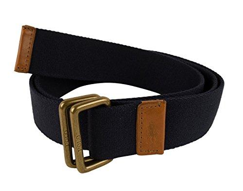 Polo Ralph Lauren Mens Knit Contrast Trim Casual Belt Navy (Cotton Embossed Belt)