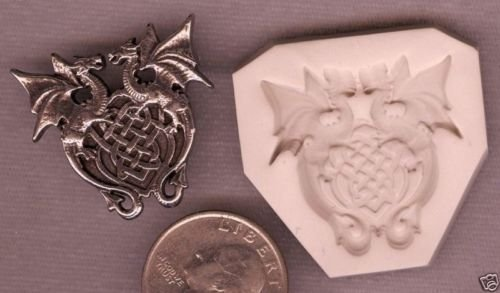 Trim Celtic Knot (Celtic Knot Doulbe Dragon Shield Polymer Clay Push Mold)