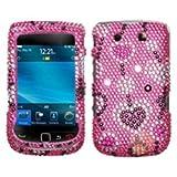 MYBAT Diamante Protector Faceplate Cover Compatible with RIM Blackberry 9800 , Love River